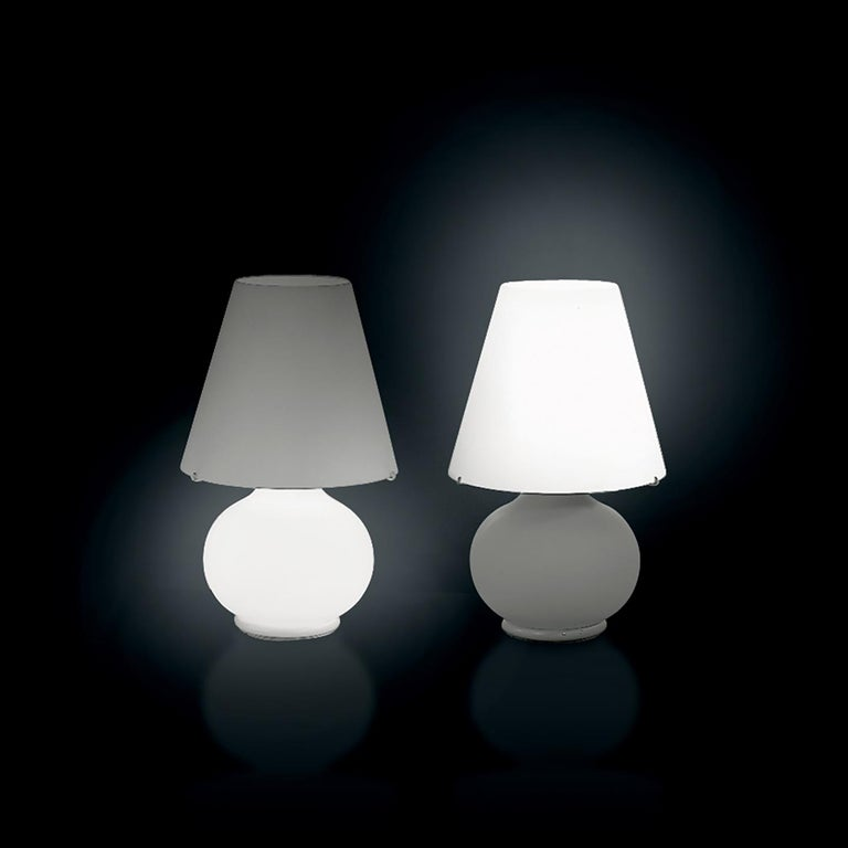 Italian Leucos Paralume T Bedside Table Light in Satin White by Design Lab For Sale
