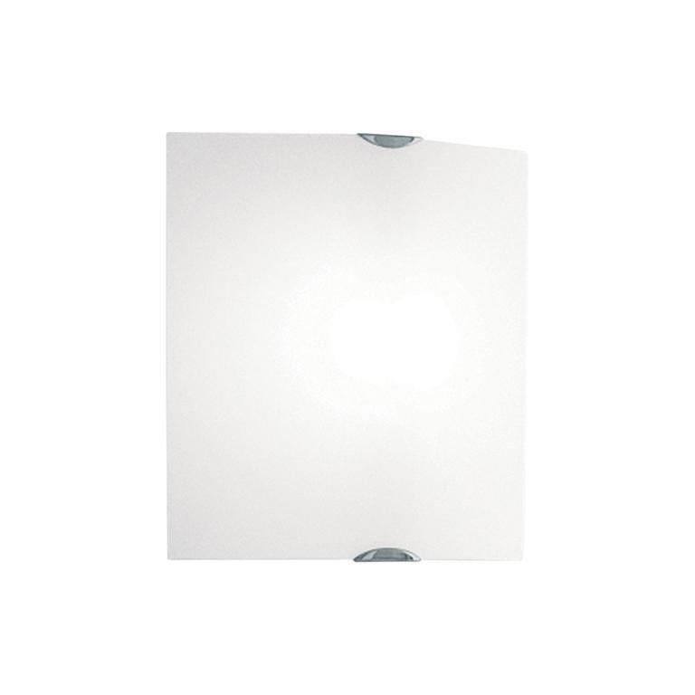Leucos Selis P-PL 35 Wall Sconce in Satin White and Chrome by Toso & Massari