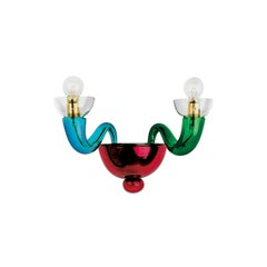 Leucos Serenisima P Wall Light in Multi-Color and Gold by Archivio Storico