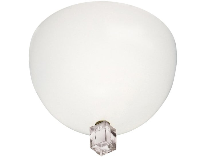 Italian Leucos Large Victor Wall Lamp by Venini For Sale