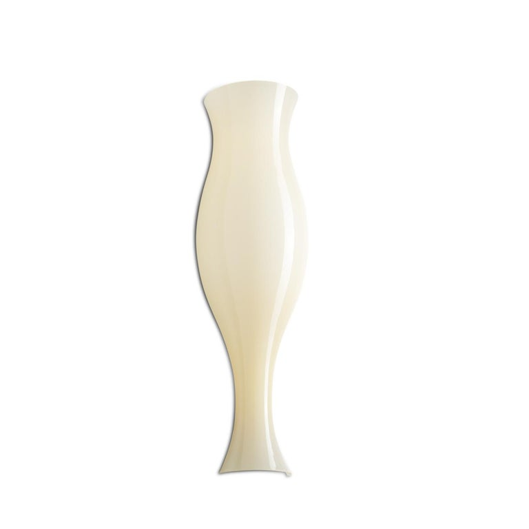 Leucos Spring P Wall Sconce in Glossy Honey & Matte White by Eva Zeisel For Sale