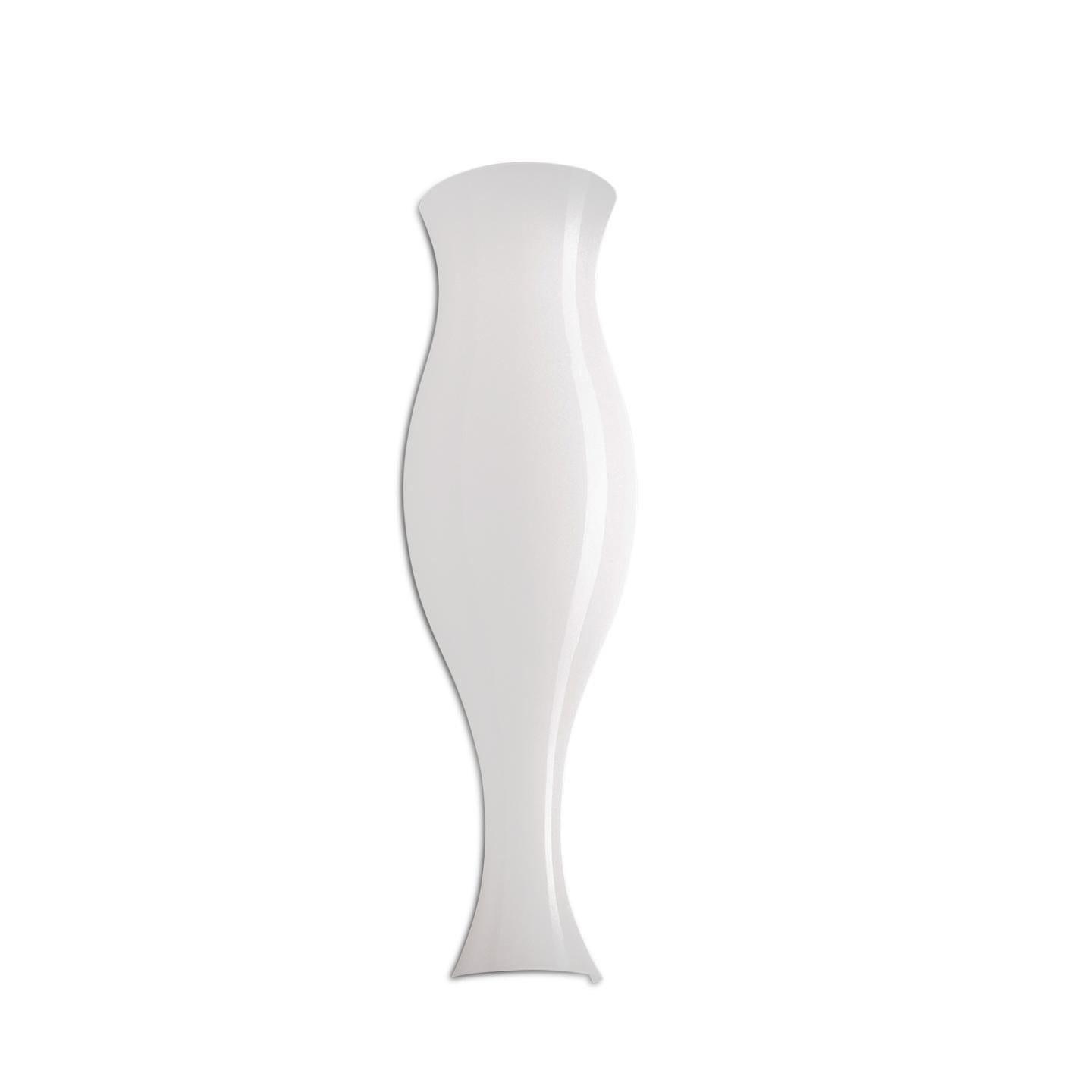 Leucos Spring P Wall Sconce in Glossy White and Matte White by Eva Zeisel