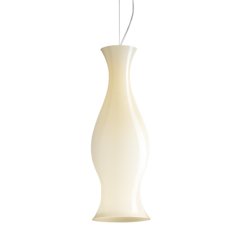 Leucos Spring S Pendant Light in Glossy Honey and Chrome by Eva Zeisel