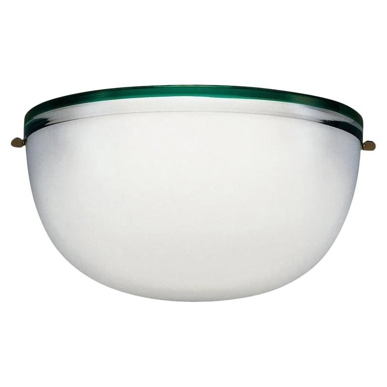 Stillboi Wall Lamp by Venini, White and Green For Sale