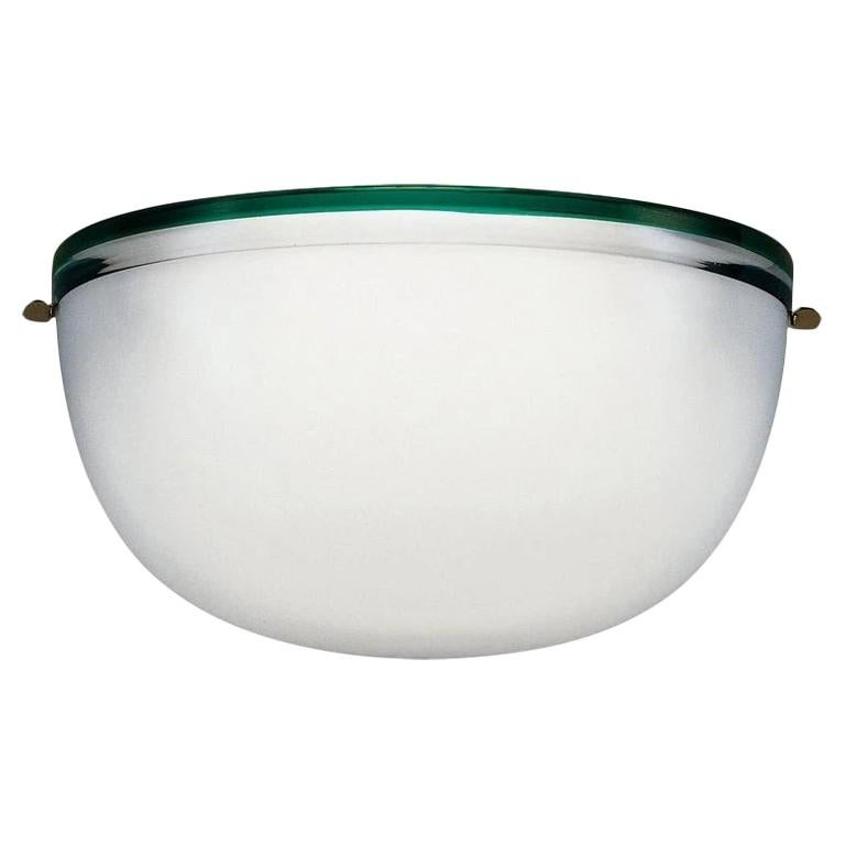 Stillboi Wall Lamp by Venini, White, Green and Gold For Sale