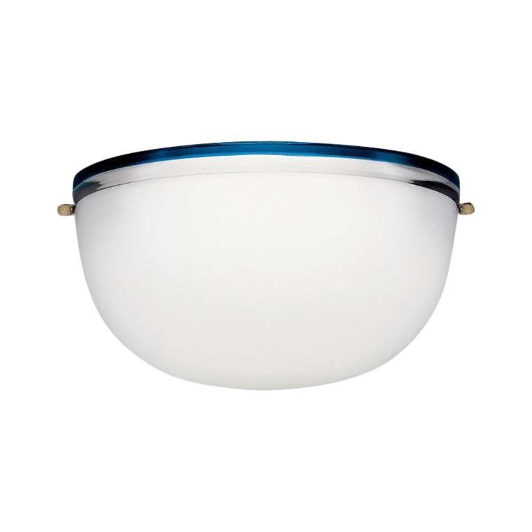 Stillboi Wall Lamp by Venini, White & Zaffir For Sale