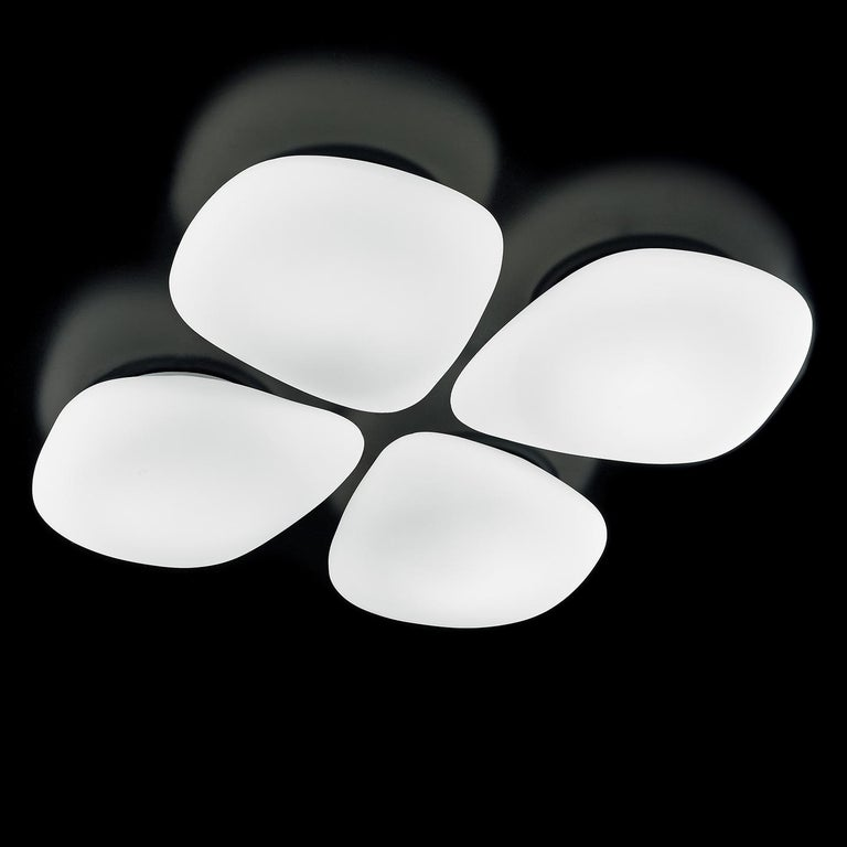 Italian Leucos Stone P-PL Wall or Ceiling Light in Satin White by Design Lab For Sale