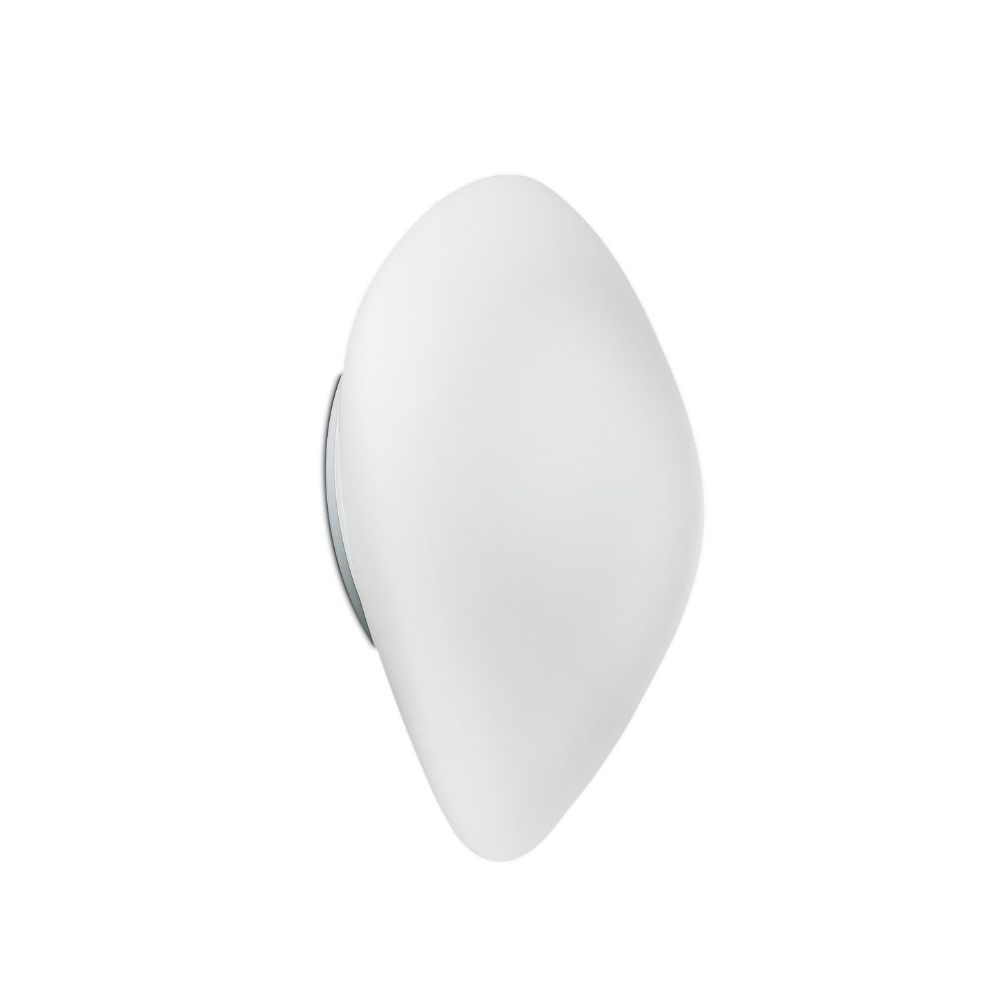 Leucos Stone P-PL Wall or Ceiling Light in Satin White by Design Lab