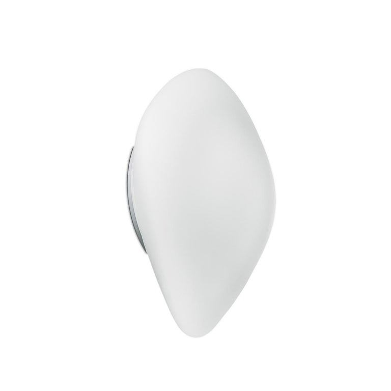 Leucos Stone P-PL Wall or Ceiling Light in Satin White by Design Lab For Sale