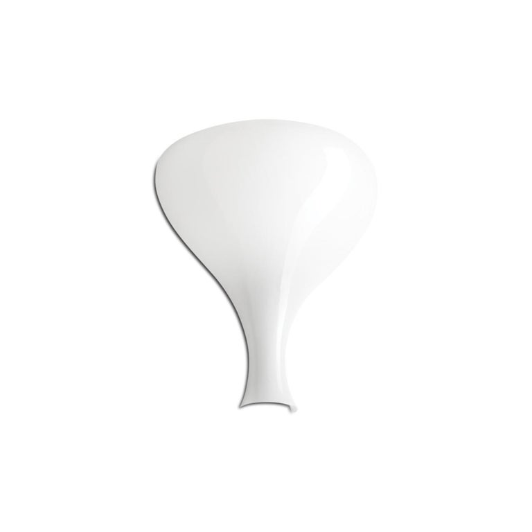 Leucos Summer P Wall Sconce in Glossy and Matte White by Eva Zeisel For Sale