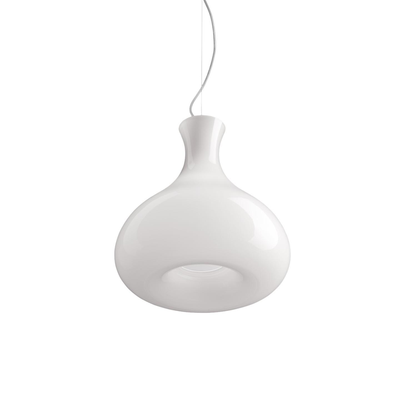Leucos Summer S Pendant Light in Glossy White & Chrome by Eva Zeisel