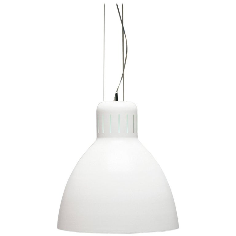 Italian Leucos The Great JJ S Pendant Light in Glossy White by Leucos Design Lab For Sale