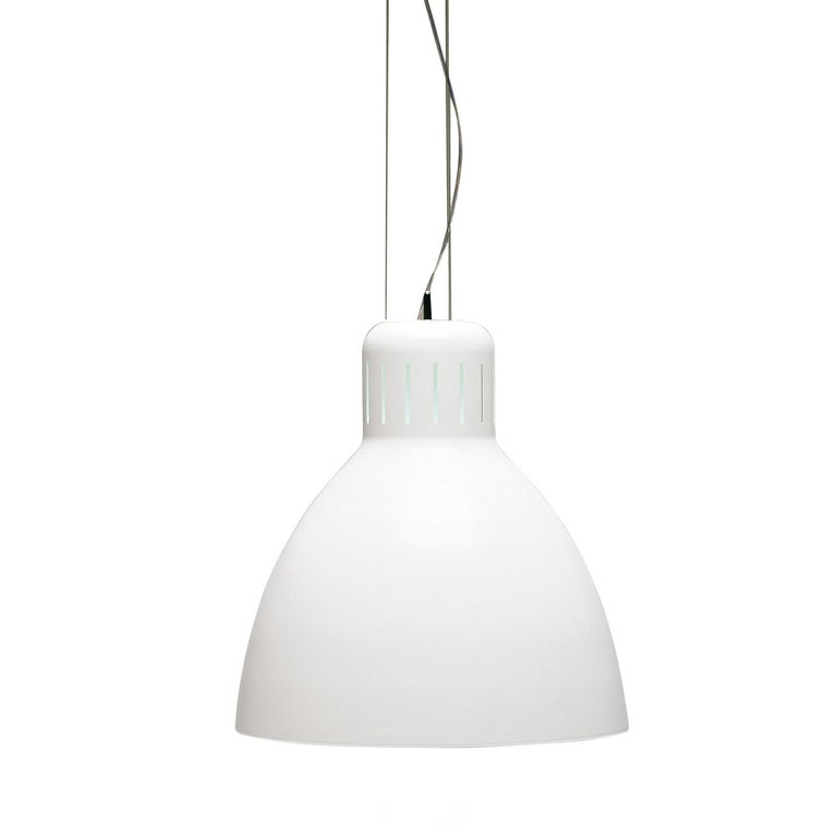 Leucos The Great JJ S Pendant Light in Glossy White by Leucos Design Lab For Sale
