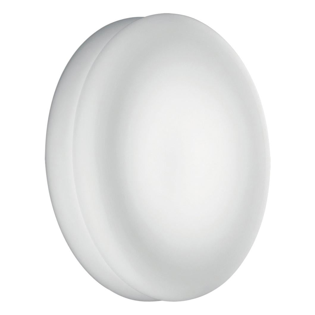 Leucos Wimpy P-PL 32 LED Wall Sconce in Satin White & Anodized Aluminum