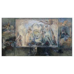 Lev Mezhberg, Homage to Cezanne, Oil on Canvas Painting, 2005