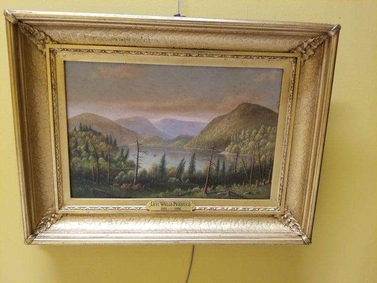 Adirondack Scene - Painting by Levi Wells Prentice