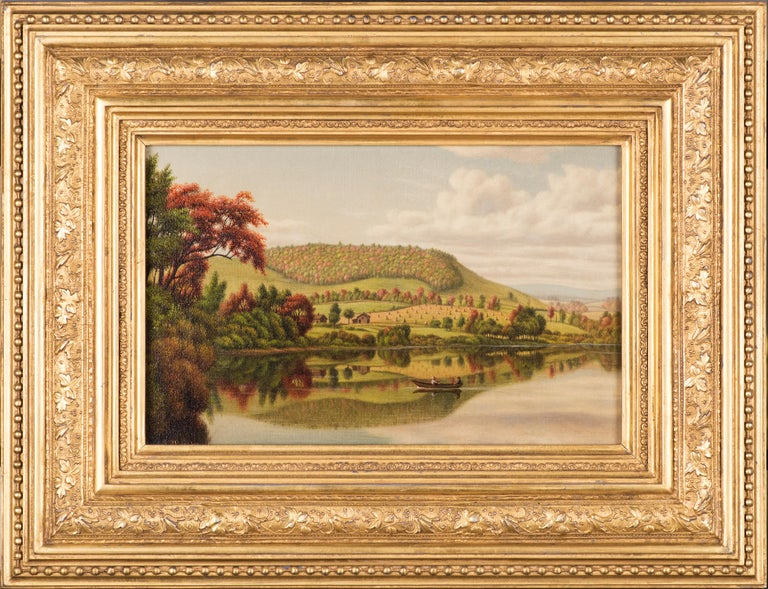 Autumn Reflections - Painting by Levi Wells Prentice