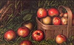 Harvest of Apples, Still-life by Levi Wells Prentice (1850-1935, American)