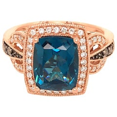 LeVian 14 Karat Rose Gold Berrylicious Blues Ring