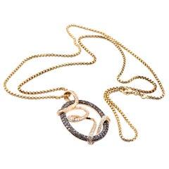 Levian 14 Karat Yellow Gold Diamond Necklace