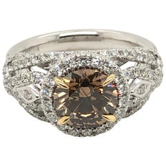 Levian 2 Carat Chocolate Diamond Two-Tone Ring