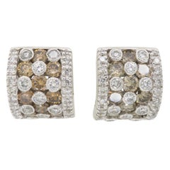 LeVian 3.00 Carat Diamond Huggie Earrings