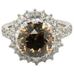 LeVian 4 Carat Chocolate Diamond Platinum Two-Tone Ring