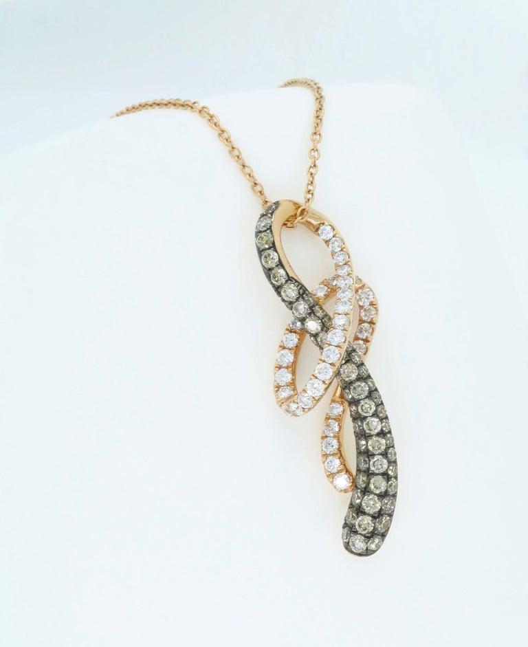 Le Vian Rose Gold Diamond Necklace For Sale 3