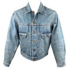 LEVI'S Archives Replica Size 38 Blue Wash Denim Trucker Jacket