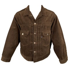 LEVI'S MADE & CRAFTED Size M Brown Corduroy Cotton Trucker Jacket