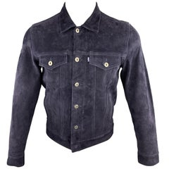 LEVI'S MADE & CRAFTED Size S Navy Trucker Jacket