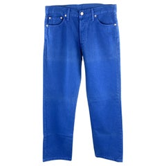 LEVI'S Size 30 Royal Blue Solid Cotton Button Fly Casual Pants