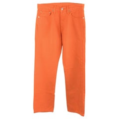 LEVI'S Size 32 Orange Solid Cotton Jean Cut Casual Pants
