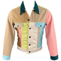 LEVI'S VINTAGE CLOTHING Size 38 Multi-Color Color Block Corduroy Jacket