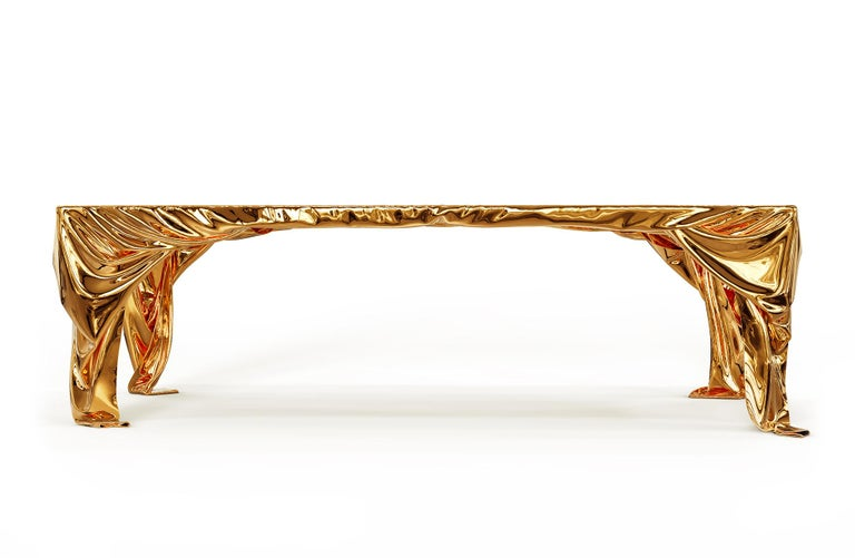 Levitaz Cast Bronze Dining Table For Sale 5