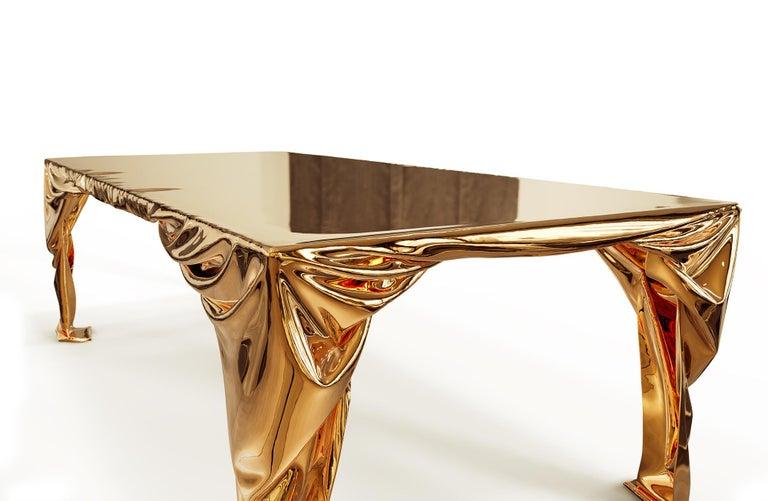 Levitaz Cast Bronze Dining Table For Sale 6