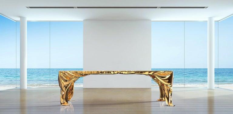 Levitaz Cast Bronze Dining Table For Sale 8