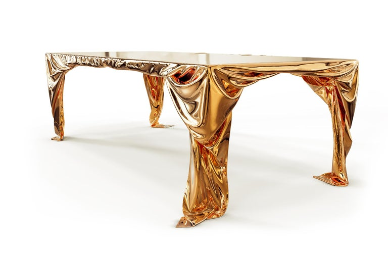 Levitaz Cast Bronze Dining Table In New Condition For Sale In Playa del Carmen, Quintana Roo