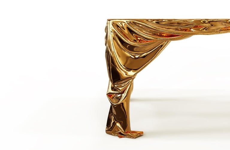 Levitaz Cast Bronze Dining Table For Sale 1