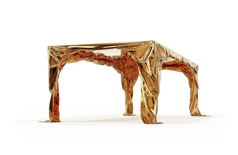 Levitaz Cast Bronze Dining Table For Sale 3