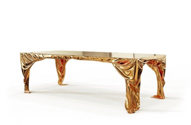 Levitaz Cast Bronze Dining Table For Sale 2
