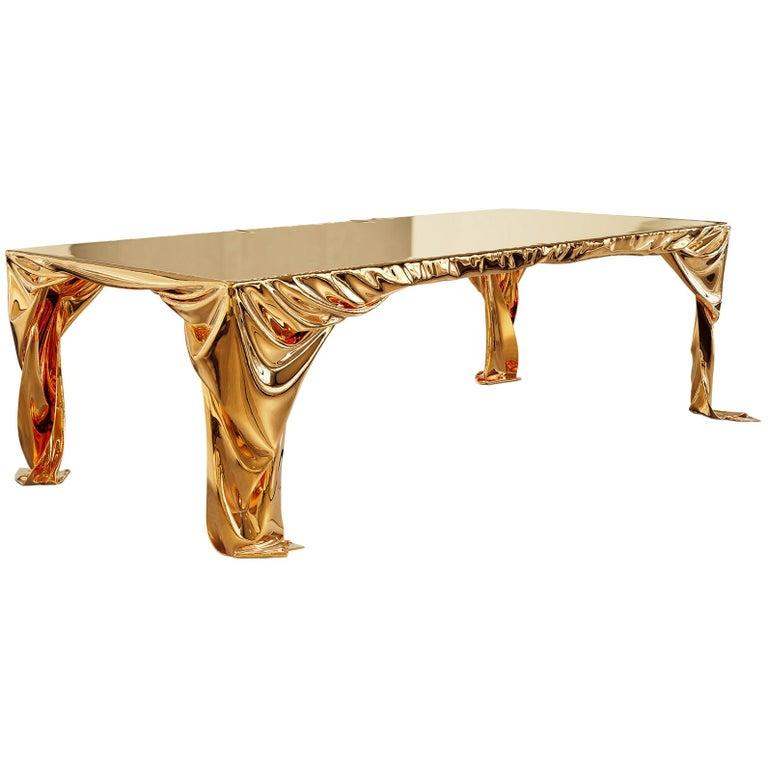 Levitaz Cast Bronze Dining Table For Sale