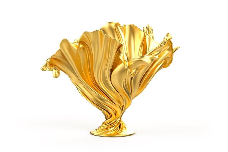 Levitaz Vase Gold / Black In New Condition For Sale In Playa del Carmen, Quintana Roo