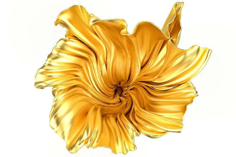 Contemporary Levitaz Vase Gold / Black For Sale
