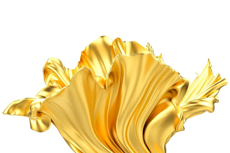 Resin Levitaz Vase Gold / Black For Sale