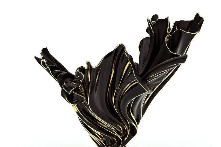 Levitaz Vase Gold / Black For Sale 1