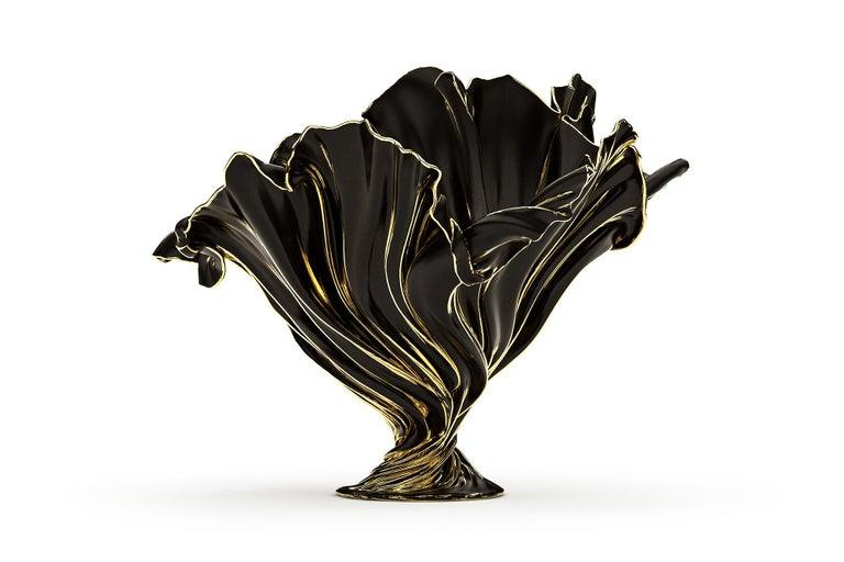 Levitaz Vase Gold / Black For Sale 2