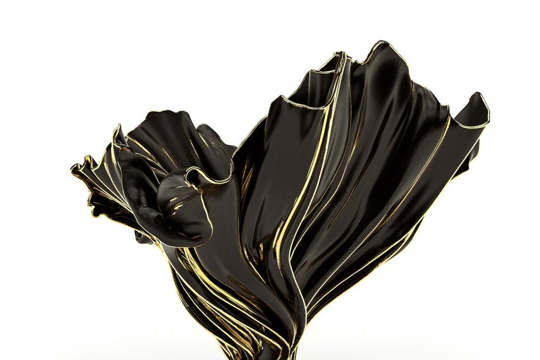 Levitaz Vase Gold / Black For Sale 3