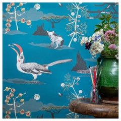Lewa Union Blue Botanical Tropical Wallpaper