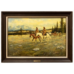 """Lewis and Clark"" Original Oil Painting by Floyd Drown"